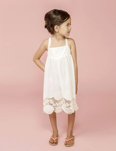 White lace dress. #designer #kids #fashion