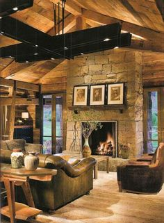 So warm and cozy - love the ceiling lighting -