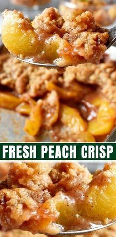 FRESH PEACH CRISP RECIPE Canned Sweet Potato Recipes, Canning Sweet Potatoes, Sweet Recipes, Fruit Recipes, Desert Recipes, Snack Recipes, Cooking Recipes, Snacks