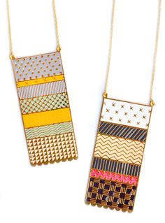 Knitwear Necklace (love the mint/yellow/grey)