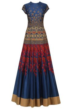 Navy blue embroidered gown available only at Pernia's Pop Up Shop.