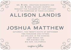 Curled Corners - Signature White Wedding Invitations - East Six Design - Navy - Blue : Front