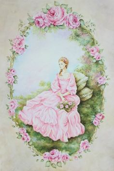 미누 부티크 : 네이버 블로그 Collage Drawing, Sketch Painting, Tole Painting, Drawing Sketches, Drawings, Art Floral, Vintage Images, Vintage Posters, Old Cards