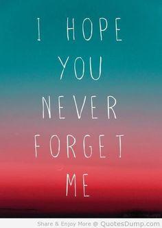 Imagem de http://www.quotesdump.com/wp-content/uploads/2013/09/i-hope-you-never-forget-me-love-quote.jpg.