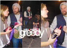 """James Roday (director) and girlfriend Maggie Lawson (Keira) closing night of """"greedy"""" (see my """"greedy board for full description of all the Jaggieness that was said here :) Psych Cast, Maggie Lawson, Psych Quotes, James Roday, Girlfriends, Cool Pictures, Tv Series, Tv Shows, It Cast"""