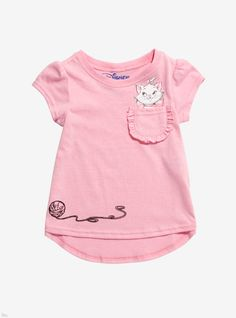 Disney The Aristocats Marie Toddler Pocket T-Shirt - BoxLunch Exclusive Baby Boy Fashion, Toddler Fashion, Toddler Outfits, Kids Outfits, Kids Fashion, Fall Fashion, Fall Outfits, Womens Fashion, Shirts For Girls