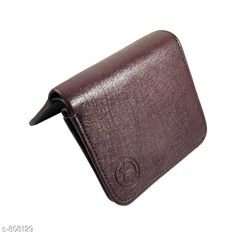 Wallets Stylish Leather Men's Wallet  *Material* PU Leather  *Size * Free Size  *Cash Compartments* 2    *Card Slots * 3  *Coin Pouch* 1  *Description* It Has 1 Piece Of Men's Wallet  *Pattern* Solid  *Sizes Available* Free Size *   Catalog Rating: ★3.9 (128)  Catalog Name: Men's Attractive Leather Wallets Vol 5 CatalogID_92856 C65-SC1221 Code: 142-808129-
