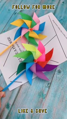 Paper Crafts Origami, Diy Crafts For Gifts, Paper Crafts For Kids, Diy Arts And Crafts, Creative Crafts, Preschool Crafts, Fun Crafts, Diy Crafts Hacks, Summer Crafts