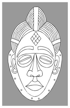 Punu masks represent the idealized beauty of Punu women, and should only be carved by Punu men.  They are portrayed with their traditional high-domed hairstyle, diamond- shaped scarification marks on their forehead and they often have eyes that display oriental characteristics. The elaborate Punu hairstyles suggest that the wearer is wealthy as her hair has not been flattened by the need to carry goods.  Sometimes Punu masks are painted white with kaolin clay to represent the spirits of…