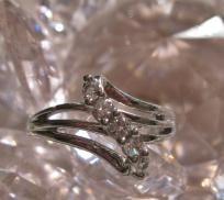 White Topaz Ring Size 7