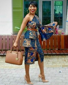 There are many ways to style long kitenge dresses in the form of cocktail dress, mermaid dress, long flowy gowns and much more. Here are the latest and most beautiful designs and patterns to incorporate into your long kitenge dresses African Print Clothing, African Print Dresses, African Fashion Dresses, African Dress, Fashion Outfits, African Prints, Ankara Fashion, African Inspired Fashion, African Print Fashion