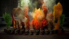 The Sound of Taste: Slow Motion Spice Bag Explosions Synchronized with Music