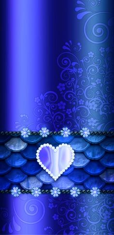 By Artist Unknown. Phone Background Wallpaper, Heart Iphone Wallpaper, Bling Wallpaper, Heart Background, Luxury Wallpaper, Wallpaper For Your Phone, Love Wallpaper, Wallpaper Backgrounds, Blue Wallpapers