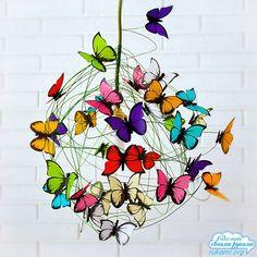Светильник из бабочек