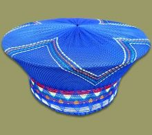 Zulu Hats available in a wide range of colors and styles. Hand made in South Africa Traditional African Clothing, Traditional Fashion, Traditional Dresses, African Men Fashion, African Fashion Dresses, African Women, Fashion Outfits, African Hats, African Wear