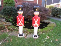 PAIR of Large EMPIRE Soldiers. Lighted Christmas Toy Soldiers, Blow Molds, Yard Display, Lawn Decorations with Electric Cord and Light by VeiledThroughTime on Etsy