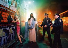 "Like any good model, Jesus always finds his light. Also by David LaChapelle from ""Jesus is my Homeboy."""