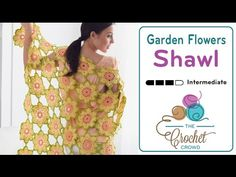 How to Crochet A Shawl: Joining Flower Motifs Together - YouTube
