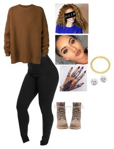 """""""Untitled #697"""" by bennysgirl on Polyvore featuring Eklexic, Kenneth Jay Lane, Haider Ackermann and Timberland"""