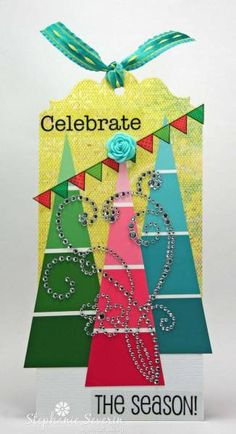 Paint Chip Trees by SmilynStef - Cards and Paper Crafts at Splitcoaststampers