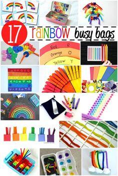 busy bag de arco iris, a mis niñas les encanta #diy #manualidades #ocio #niños #busy bag