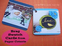 Cool idea at A Turtle's Life for Me: create swatch cards to make a Blog Brag Book!!