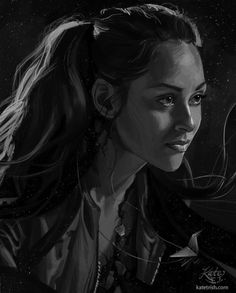 Beautiful Sketch of Raven Reyes The 100 Lexa The 100, The 100 Clexa, The 100 Raven, Lindsay Morgan, The 100 Poster, The 100 Characters, The 100 Show, Beautiful Sketches, Bellarke