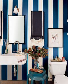 DOMINO:How to Pull Off Striped Walls Like a Pro