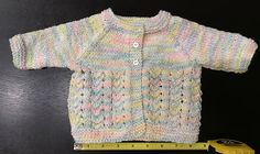 Such a sweet pattern - for a really lovely little baby cardigan jacket.