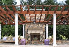 When we asked you which type of pergola should we build, you voted for the draped Roman-style instead of the traditional style. Check out where the pergola will be built. Diy Pergola, Building A Pergola, Cheap Pergola, Pergola Shade, Pergola Kits, Pergola Ideas, Black Pergola, Patio Ideas, Backyard Ideas