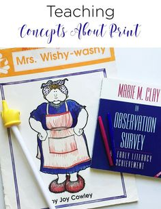 Teaching concepts about print is an important early literacy skill to be mastered. The skills are necessary as students learn how our language works and looks in print. See how this teacher weaves it into her day and assesses her little learners.