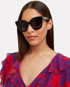Cute Sunglasses, Gucci Sunglasses, Oversized Sunglasses, Black Sunglasses, Cat Eye Sunglasses, Sunglasses Women, Fashion Eye Glasses, Black Girl Aesthetic, Specs