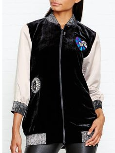ANNA SUI ALL YOU NEED IS LOVE JACQUARD BOMBER JACKET - On Site Now.