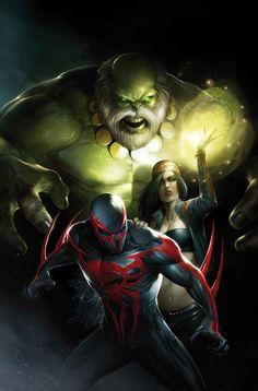 #Spiderman #2099 #Fan #Art. (SPIDER-MAN 2099 #10 Cover) By: Francesco Mattina. (THE * 5 * STÅR * ÅWARD * OF: * AW YEAH, IT'S MAJOR ÅWESOMENESS!!!™)[THANK Ü 4 PINNING!!!<·><]<©>ÅÅÅ+(OB4E)