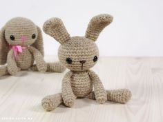 Small Long-Legged Bunny - Free Amigurumi Pattern here: http://engsidrun.spire.ee/blogs/blog1.php/pattern-small-bunny
