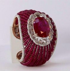 Diamond Bracelets, Gemstone Bracelets, Jewelry Bracelets, Ruby Bangles, Ruby Bracelet, Bling Jewelry, Trendy Jewelry, Designer Jewellery, Goddesses