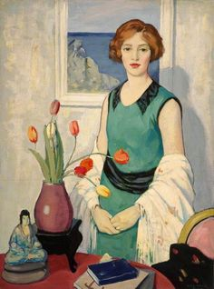 George Telfer Bear : Portrait with Still Life -repinned by http://LinusGallery.com  #art #artists #oilpainting