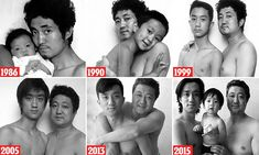 Tian Jun, 56, and Tian Li, 29, have posed for a photograph every year since Li was born in Guiyang, China, in 1986. 2014 was the only year when they didn't complete the family tradition.