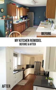 My kitchen remodel, before and after.