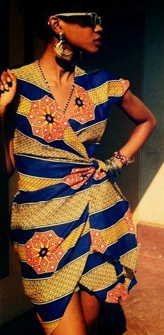 Tanya Mushayi's label Nefertari African print dress ~Latest African Fashion, African Prints, African fashion styles, African clothing, Nigerian style, Ghanaian fashion, African women dresses, African Bags, African shoes, Kitenge, Gele, Nigerian fashion, Ankara, Aso okè, Kenté, brocade. ~DK