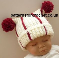 Free baby crochet pattern t-bag hat usa
