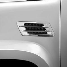 UNIVERSAL CHROME Euro Style Side Vent Car Air Flow Fender Porthole Cover