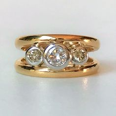 Gold and Diamond Ring by Ewald Kratz Gold Diamond Rings, Yellow Gold Rings, Vintage Jewellery, Round Cut Diamond, Wedding Rings, Engagement Rings, Antiques, Jewelry, Style