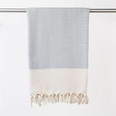 Handtücher - Hamamtuch, Strandtuch Lavanta silbergrau - ein Designerstück von yolunda bei DaWanda