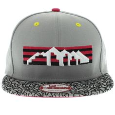 Denver Nuggets Gray, Cement, Hot Pink SNAPBACK