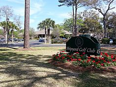 The Shipyard Golf course winds its way around and thru the resort complex. You'll find 27 holes of challenging golf.