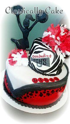 Cheer cake 10th Birthday, Birthday Cakes, Birthday Ideas, Birthday Parties, Holiday Foods, Holiday Recipes, Cheerleading Cake, Cheer Cakes, Girly Cakes