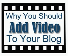 4 reasons why you should incorporate video on your blog. via @mytimeasmom