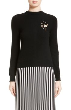 MARC JACOBS Embellished Wool & Cashmere Sweater. #marcjacobs #cloth #