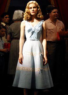 Sandra Templeton - Alison Lohman - pastel blue bow dress in Big Fish. Tim Burton, Big Fish Movie, 1950s Fashion, Vintage Fashion, Alison Lohman, Fish Costume, I Love Cinema, 20th Century Fashion, Drop Dead Gorgeous